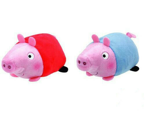 TY TEENY PEPPA PIG AND GEORGE SET OF 2 PLUSH SOFT TOYS