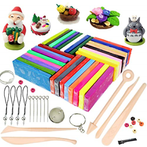 ifergoo Polymer Clay, 32 Colors Oven Bake Modelling Clay, DIY Colored Clay Kit