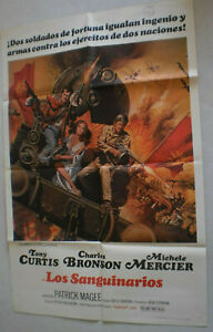 Filmplakat,LOS SANGUINARIOS,TONY CURTIS,CHARLES BRONSON,MICHELE MERCIER#50