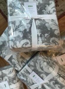 Pottery Barn Talisa Duvet Cover Set Gray King 2 King Shams