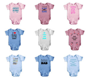 New-Cute-Funny-Short-Sleeve-Baby-Bodysuit-Rompers-Baby-Grows-Newborn-0-18M-4