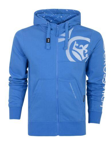 Crosshatch Mens Full Zip Fashion Hoodie Borg Lined Hood Jacket Sweatshirt Top