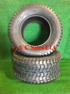 Set 2 New 20X8.00-8 4 Ply Deestone D265 Turf Lawn Mower Tires