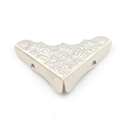 4pcs Antique Jewelry Corner Protector Wooden Box Frame Feet Leg Decorative ZJAB