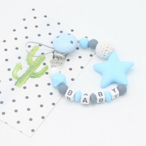 Dummy Clip Holder Baby Pacifier Clips Teething Cute Silicone Beads Soother Chain