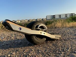 Onewheel XR with WTF rails, Bang Bumpers and Kush Hi foot pad