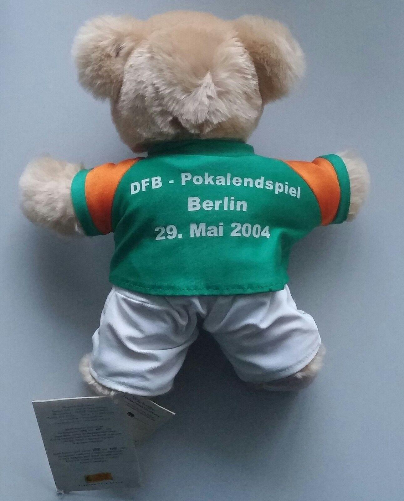 Werder Bremen Steiff Steiff Steiff Teddy Sonderotition DFB Pokalspiel Berlin 2004 selten a1fdd4