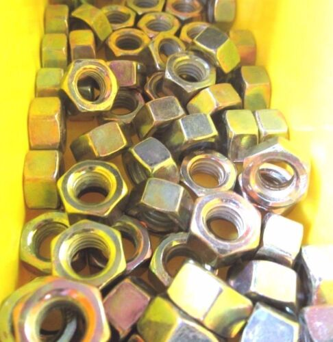 "3//4/""-10 Finished Hex Nuts Grade 8 Yellow Zinc"