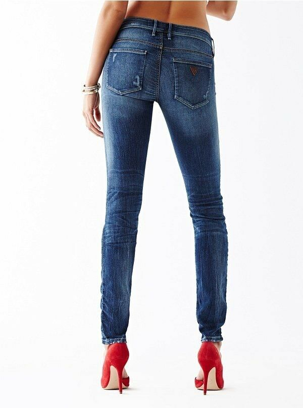 Guess Women's Flex Jegging Fit Skinny Jeans Super Stretch Stone bluee Size 27