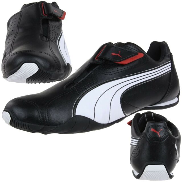 ea86ca1ad00 PUMA Redon Move Unisex Adults Trainers Black White Red 02 9 UK 43 EU ...