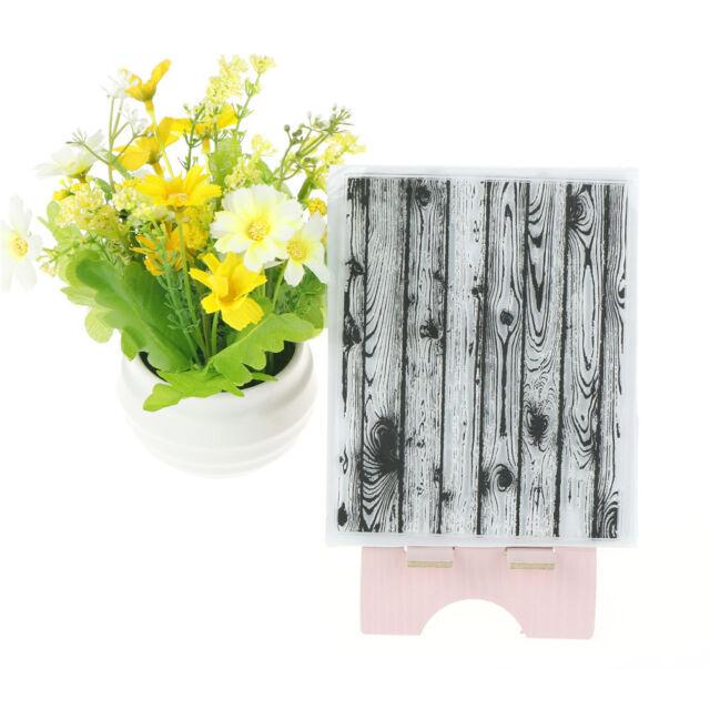 Vivid Wood Flooring Pattern Stamp Seal Scrapbooking Card Making Photo_AlbumDecor