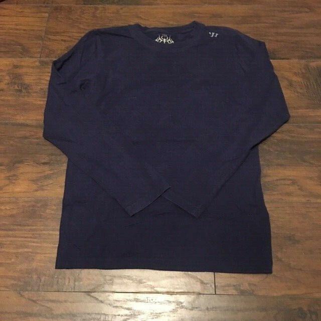 Warrior Sports Navy bluee Workout Long Sleeve Tee Shirt Size Small
