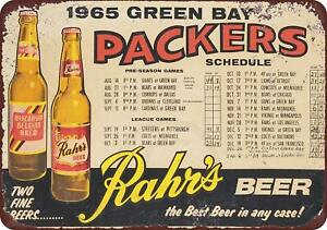 1965-Green-Bay-Packers-Rahr-039-s-Beer-Vintage-Retro-Metal-Sign-8-034-x-12-034