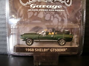 Details about Greenlight 1968 Shelby GT 500KR Convertible Gas Monkey Garage  1/64 Die Cast