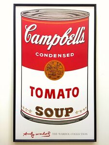 ANDY-WARHOL-FOUNDATION-LARGE-FRAMED-ICONIC-POP-ART-POSTER-034-CAMPBELLS-SOUP-034-1968