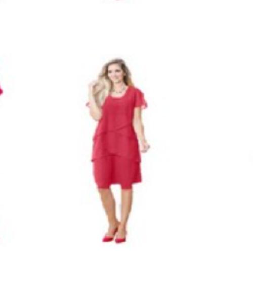 249171 Witt Weiden Damen Kleid Chiffon koralle rot Größe 44 NEU