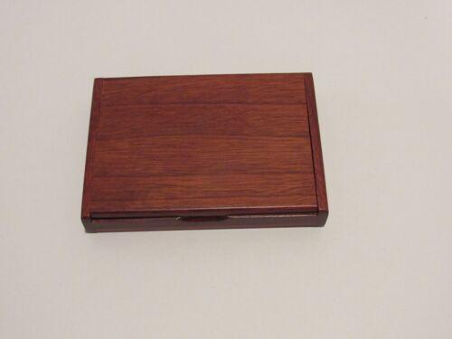 Rosewood Folding Business Card Holder