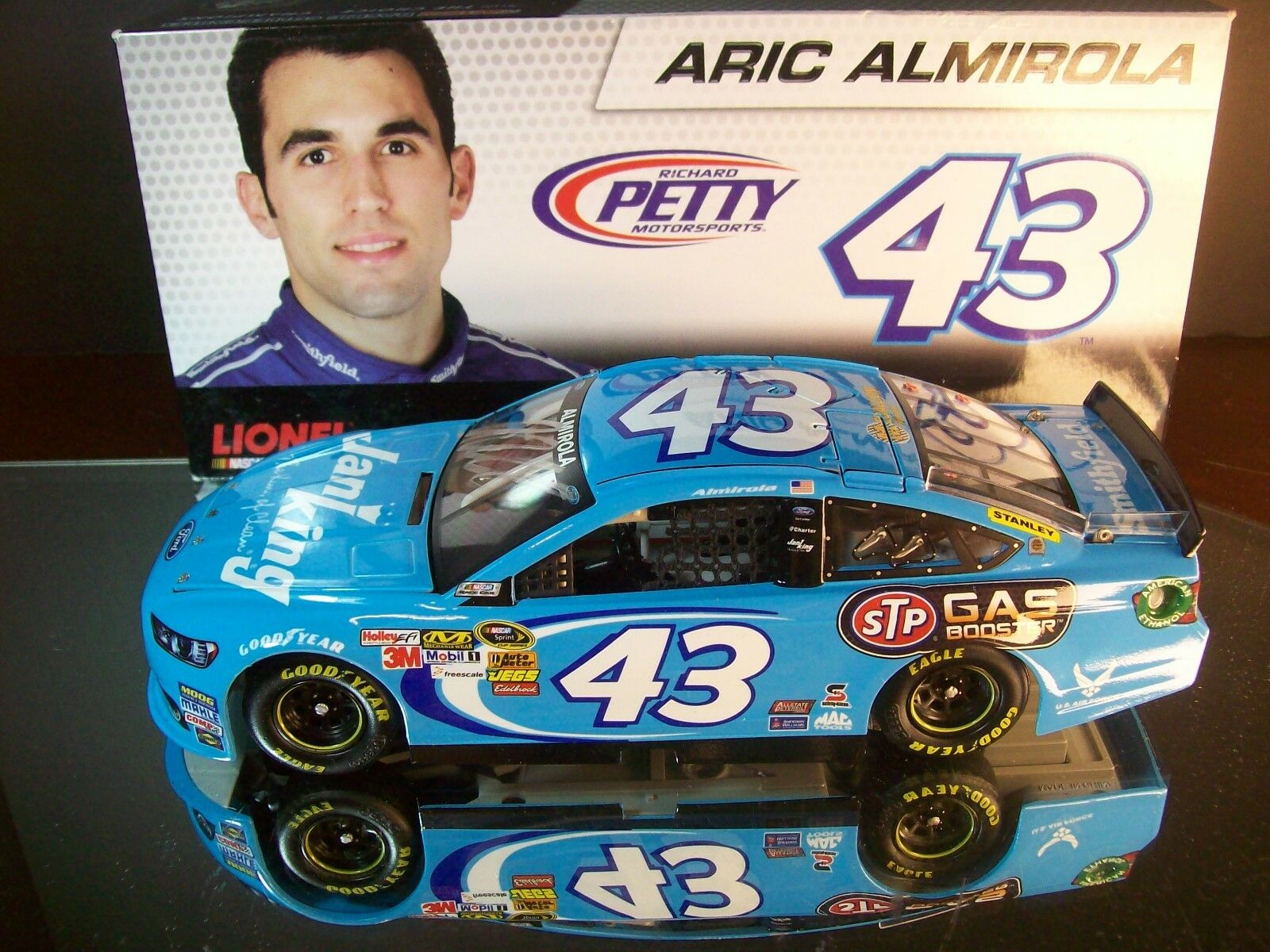 Aric Almirola Jani King STP Gas Booster Autographed 2013 Ford Fusion 1 828