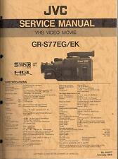 JVC Original Service Manual für GR-S 77 EG/EK