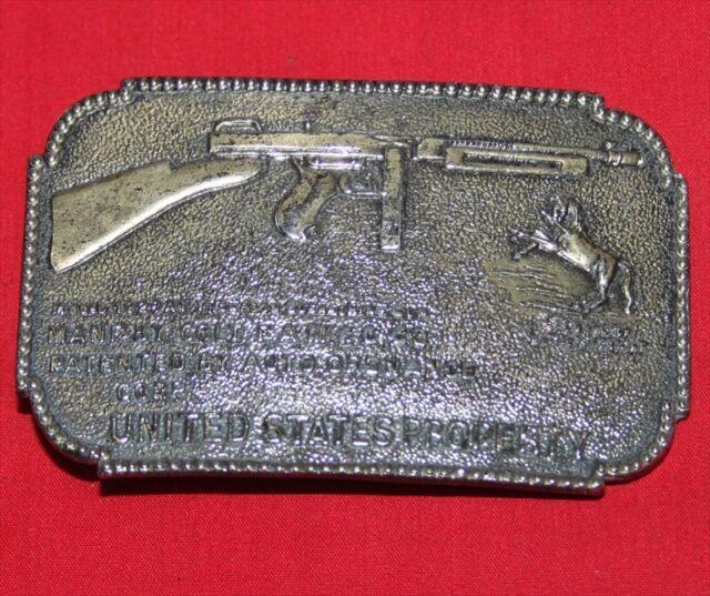 Colt Firearms Thompson Machine Gun Belt Buckle