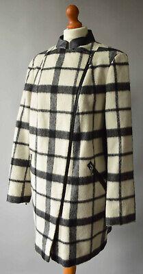 Ladies M&S Autograph Black & Cream Wool & Mohair blend Coat Size UK 14 | eBay