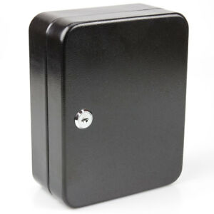 Lockable Key Storage Cabinet Safe Box Cupboard Metal Wall Mounted Holder 20 Tag