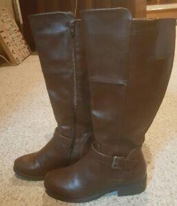 Zip Up Brown Boot Size 9M | eBay