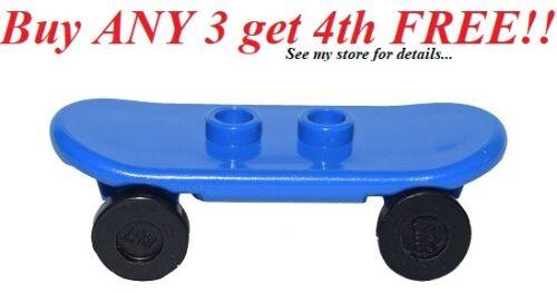 ☀️NEW Lego City Minifig BLUE SKATEBOARD Boy//Girl Minifigure Skate Board Toy