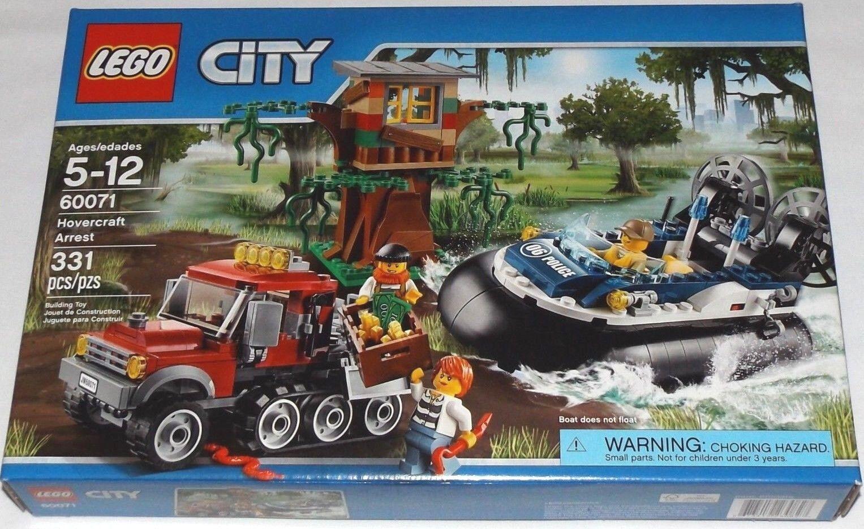 LEGO 60071 Hovercraft Arrest City off-roader treehouse police RETIRED set