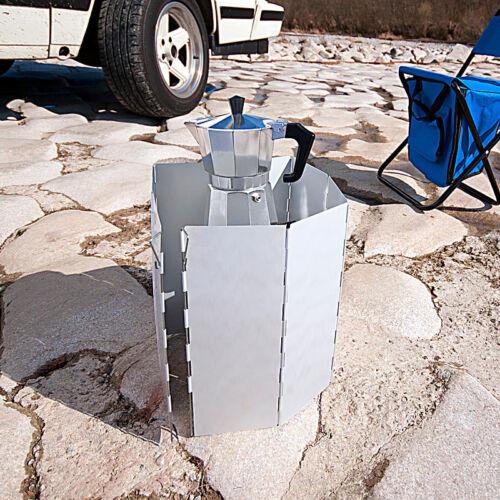 Windschutz Campingkocher Faltbarer Alu-Windschutz für Gaskocher