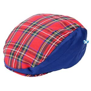 1b125892393 Mens ROYAL STEWART TARTAN Red   Blue Flat Cap - Scotland Hat Golf ...