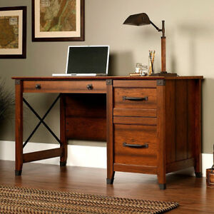 Craftsman-Mission-Shaker-Desk-w-Wrought-Iron-New-Made-in-USA