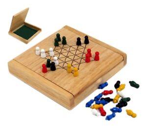 Dama-cinese-drago-36-pedine-da-2-a-6-giocatori-base-in-legno-cm-12x12