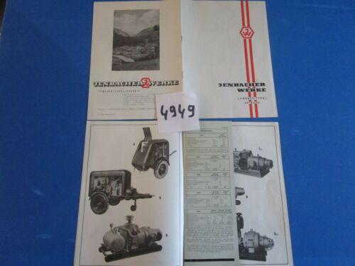 N°4949 /  JENBACHER WERKE catalogue moteur diesel,compresseur....6.1954..