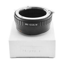Pentax K PK Mount Lens to Canon EOS M M2 M3 EF-M Camera Adapter Ring PK-EOS M