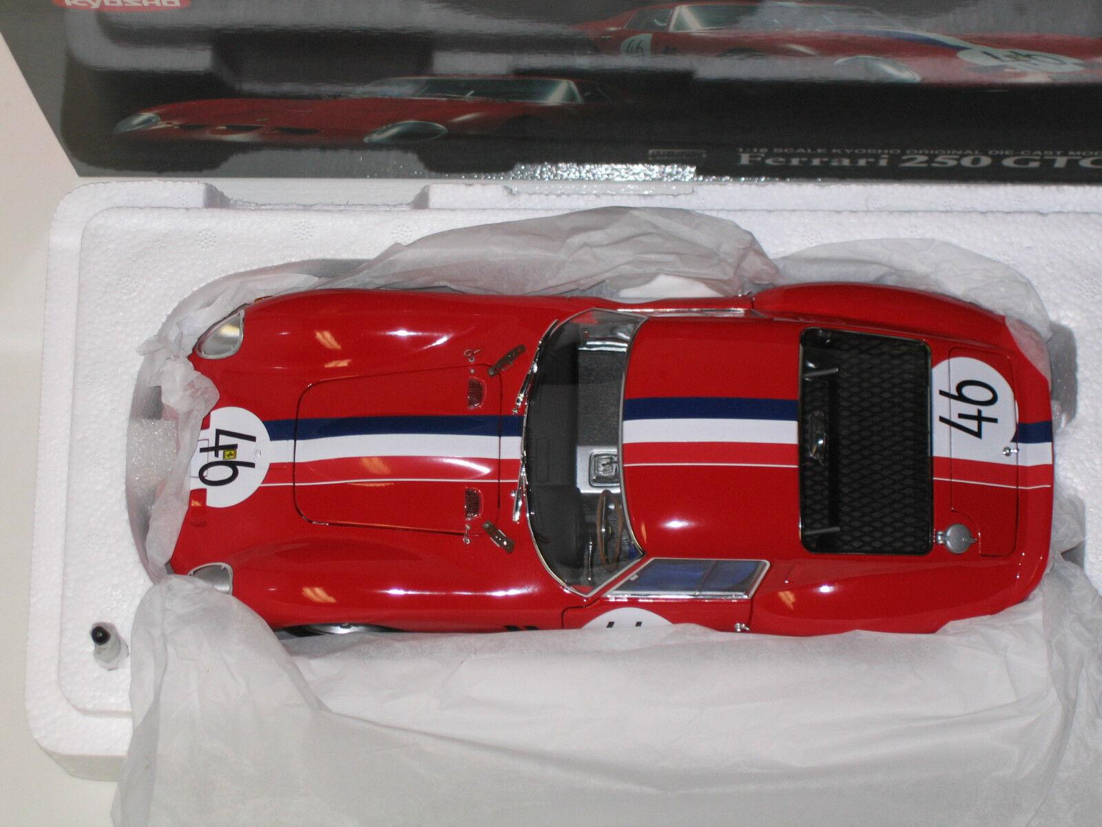 1  18 KYOSHO FERRARI 250 GTO röd NURBURGRING, NYA, 0836A