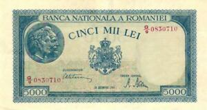 05-Romania-Rumanien-P56a-5000-Lei-20-12-1945-pair-2-Notes-UNC