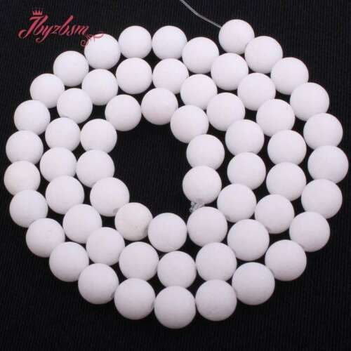 "10mm Round Frost Matte Jade Stone Spacer Loose Beads Strand 15/"" Muti-color Pink"
