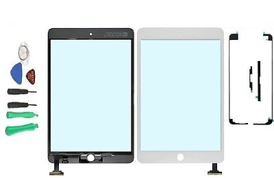 White Ipad Mini Front Panel Touch Glass Lens Digitizer Screen Replacement Parts
