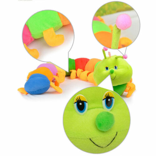Colorful Inchworm Soft Caterpillar Lovely Developmental Child Baby Toy Doll TO