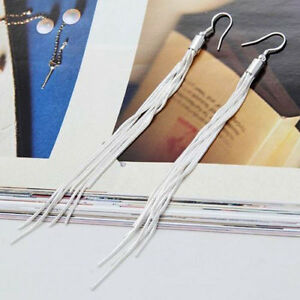 84f1589f5 Women's Fashion Jewelry Silver Plated Long Hook Tassels Drop Dangle ...