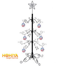 "55""H METAL CHRISTMAS STAR DISPLAY ORNAMENT TREE Holiday Decor BLACK"