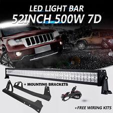 "52"" 500W CREE LED Light Bar Windshield Mount Bracket fit 07-16 Jeep Wrangler JK"