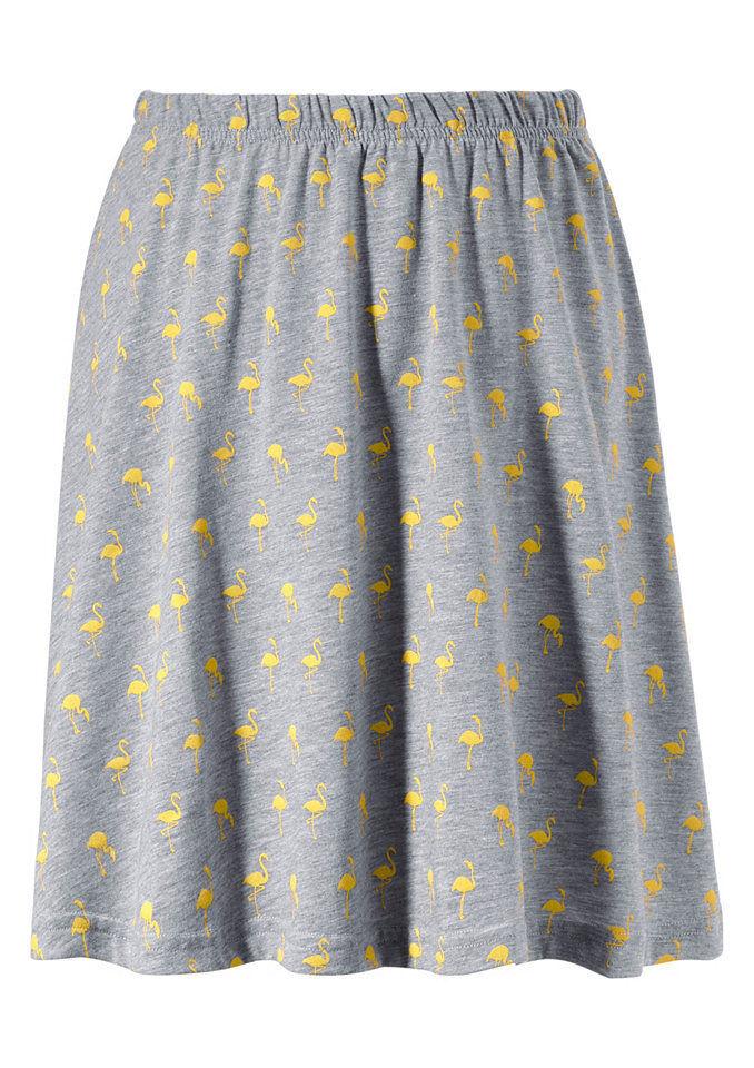 Aniston Femmes Jupe Mini Effet Froissé Plissée Gris Taille 34 617482