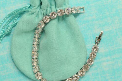 Women/'s 14K White Gold Finish 4.5 CT Round Cut Diamond Tennis Bracelet 6.5 inch
