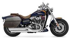 Saddleline Harley-Davidson DYNA FATBOB  FXDF Recessed leather saddlebags  New