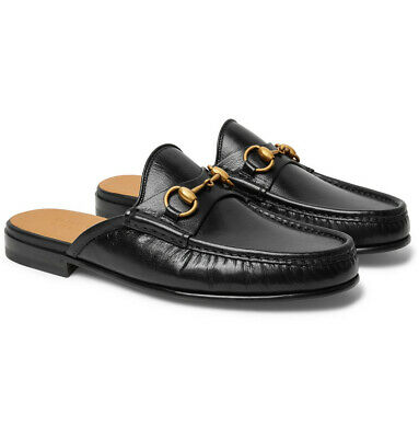 Gucci Mens Quentin Open Roos Black Slip