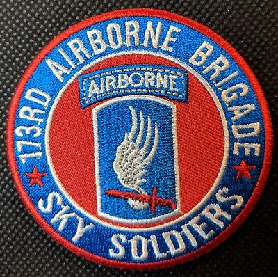 173rd Airborne Brigade Sky Soldiers Airborne Embroidered Biker Patch