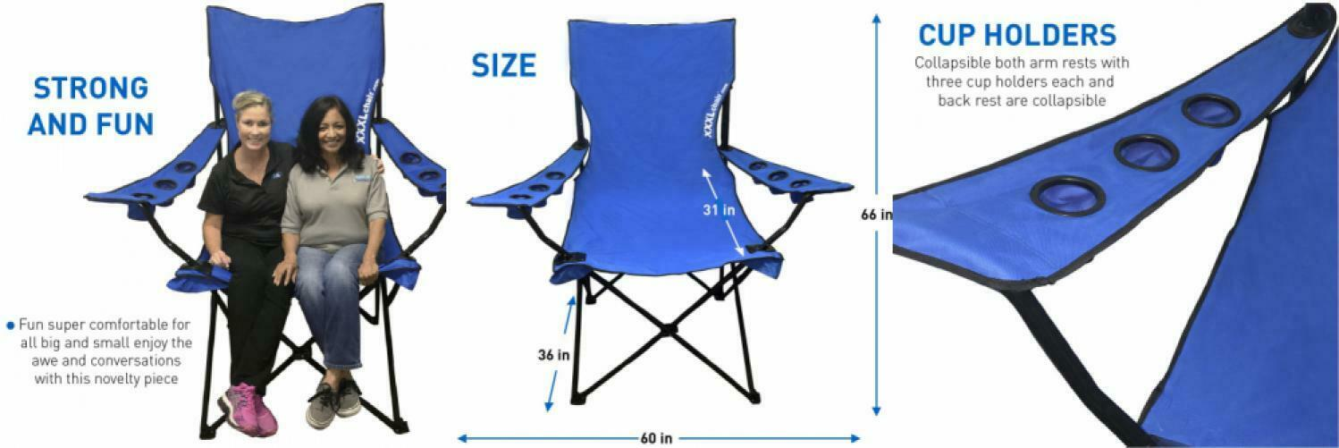 EasyGoProducts Giant Oversized Big Portable Folding Camping Beach Outdoor...