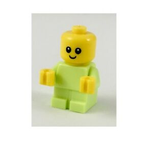 Lego City Baby Minifigure Turquoise and Baby Carrier Accessory New